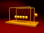 Gold Newton's Cradle 3D Animation - NTSC video