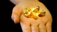 Gold nugget in hand video