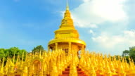 Gold pagoda in Thailand, Time lapse. video