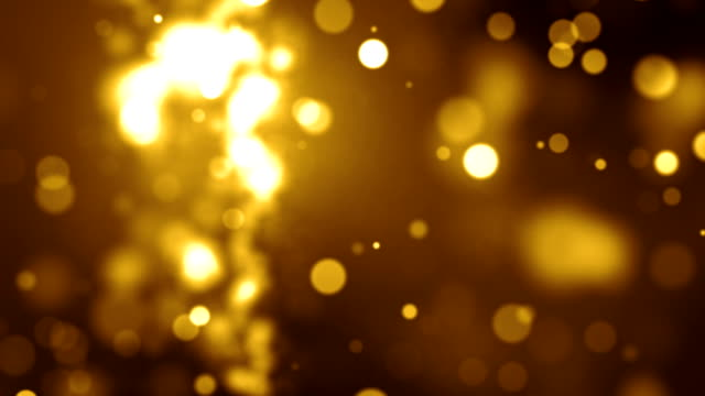Gold Particles Background Video Loop (Full HD) video
