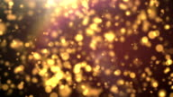 Gold Particles, Loop Flow Background video