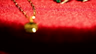 gold pendant necklace shifting focus video