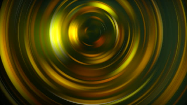 Gold rotating spiral in different patterns Abstract art Backgrounds video