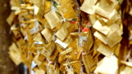 gold sheet string of Buddhism faith video