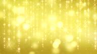 gold shining hanging circles and glares loop video