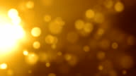 Gold Side Particles Background Video Loop (Full HD) video