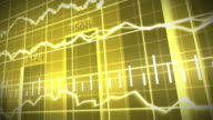Gold Stock Market Graph and Bar Chart video