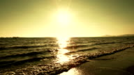 gold Sunset by the sea video