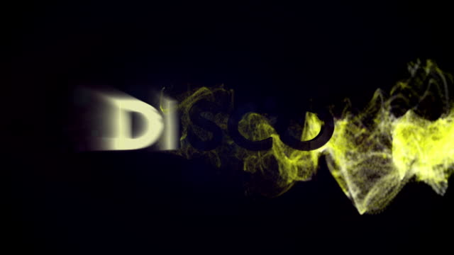 DISCO Gold Text in Particles video