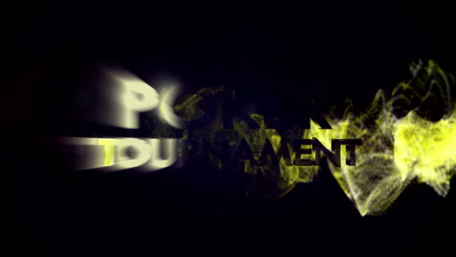 POKER TOURNAMENT  Gold Text in Particles video
