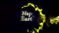HAPPY EASTER Gold Text in Particles video