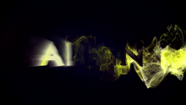 ALL IN Gold Text in Particles video