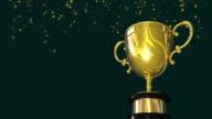 Gold Winners Trophy Title Loop HD video