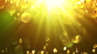 Gold Yellow Backdrop Background Disco Loop Winter New Year Soft Shine Cold Clear Beautiful video