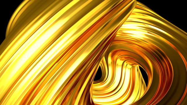 Golden abstract animation loop video