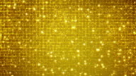 Golden abstract animation video
