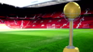 Golden and Silver Football Trophy 3D video