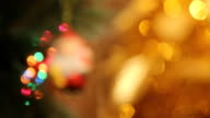 Golden branches and Merry Christmas Background video