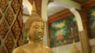 Golden Buddha Statue In The Monastery video