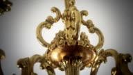Golden chandelier video