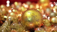 Golden Christmas Decoration With Lights video