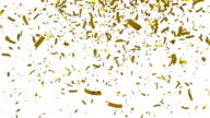 Golden confetti video