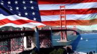 Golden Gate Bridge - American Flag video