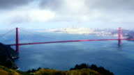 Golden Gate bridge and San Francisco, time lapse video