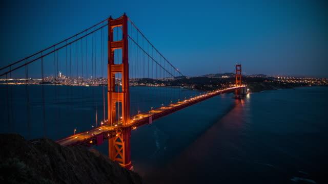Golden Gate Bridge at Night, San Francisco, USA - 4K Cityscapes, Landscapes & Establishers video