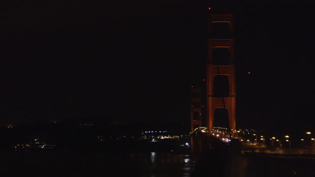 Golden Gate Bridge at night video