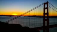 Golden Gate Bridge at sunrise video