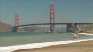 Golden Gate Bridge, Beach and Couple video