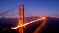 Golden Gate Bridge Day to Night video