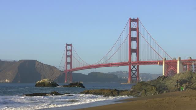 Golden Gate Bridge from Baker Beach video