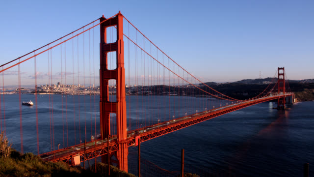 Golden Gate Bridge from Day to Night video