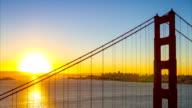 Golden Gate Bridge in the morning video