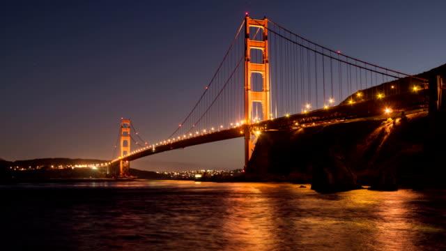 Golden Gate Bridge Night Time Lapse video