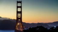Golden Gate Bridge Sunset - Time Lapse video