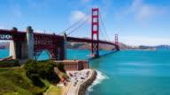 Golden Gate Bridge Time Lapse Pan Left video