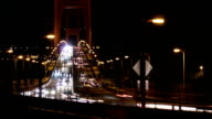 Golden Gate Bridge Traffic At Night video