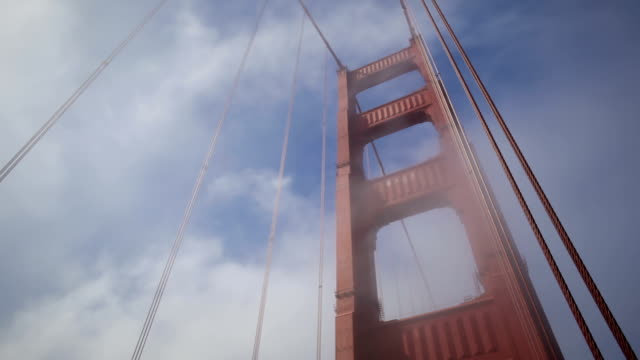 Golden Gate Bridge with fog video