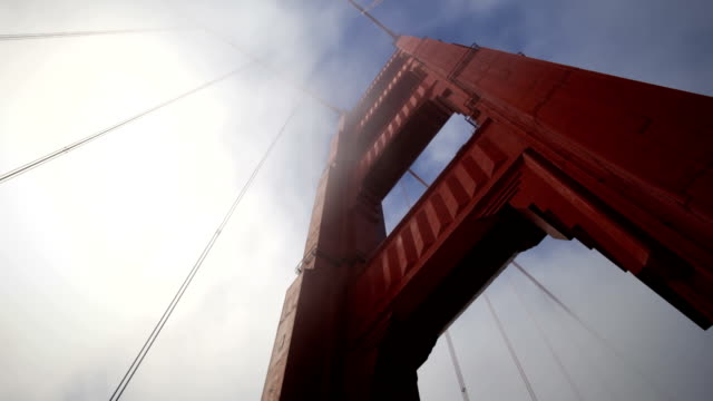 Golden Gate Bridge with fog video