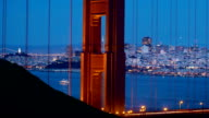 Golden Gate Bridge with San Francisco View video