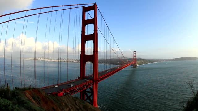 Golden Gate Bridge with Traffic Audio video