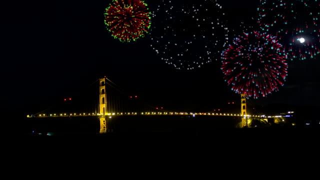 Golden Gates Bridge Fireworks (side) video