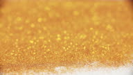 Golden Glitter background video