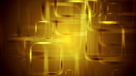 Golden glossy squares abstract geometric motion design video