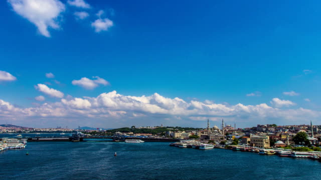 golden horn in istanbul - timelapse video