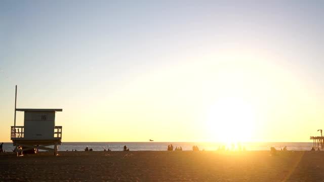 Golden Hour Over Santa Monica Beach video
