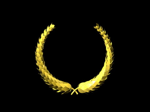 Golden Laurel Wreath, seamless Loop (with alpha) NTSC video